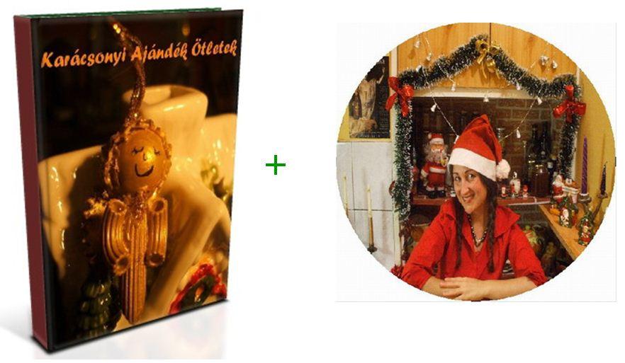 Kérem a Karácsonyi ajándék Ötletek könyvet és a karácsonyi vegán diótortát