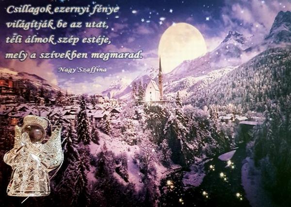 Angyali képeslapok Csillagok ezernyi fénye lilás Nagy Szaffina életművei weboldalon