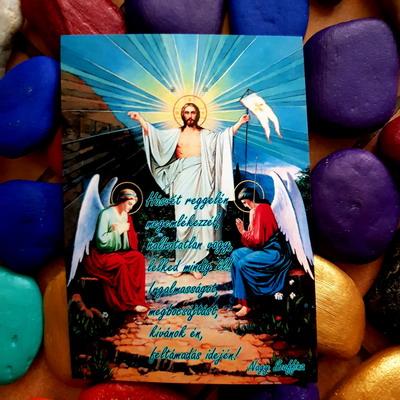 Húsvét reggelén 2. képeslap. Nagy Szaffina képeslapjai és könyvei megvásárolhatóak a nagyszaffinaeletmuvei.hu weboldalon.