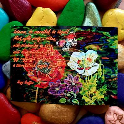 Istenem de szeretlek én téged. Nagy Szaffina képeslapjai és könyvei megvásárolhatóak a nagyszaffinaeletmuvei.hu weboldalon.